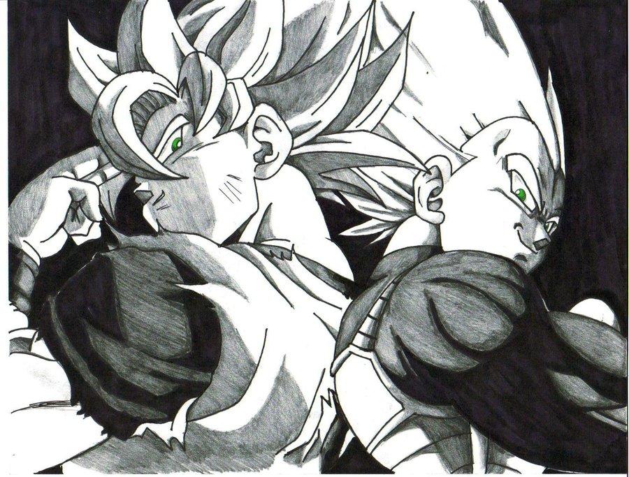 goku and vegeta by trunks24 900x683