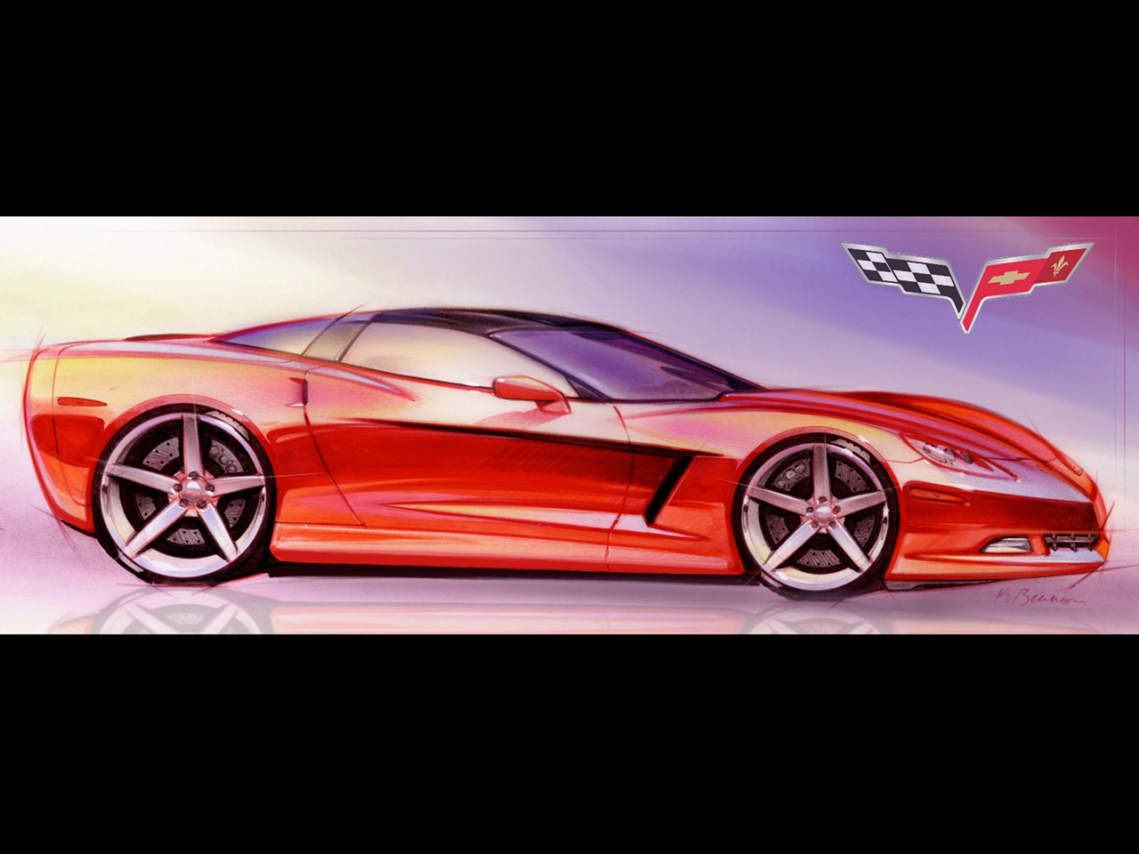 Corvette Logo Wallpaper Free Wallpaper Hd