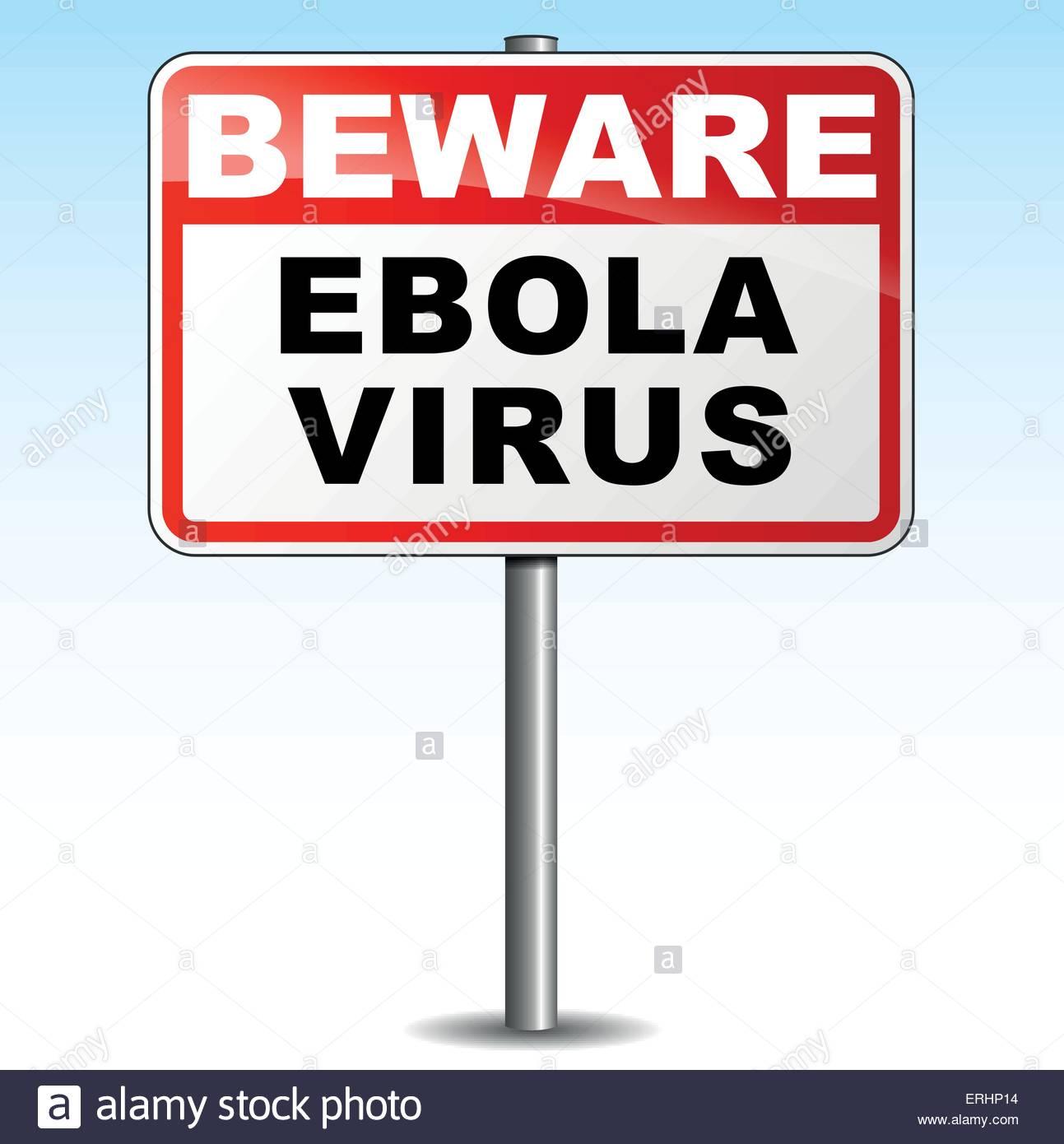 Vector illustration of ebola virus signpost on white background 1293x1390