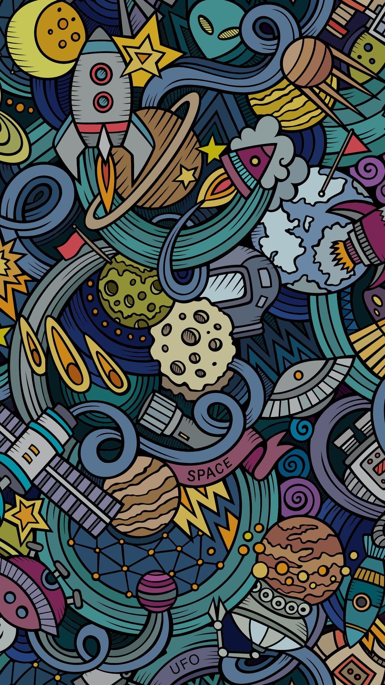 Space wallpaper fonditos chidos Iphone wallpaper Screen 1242x2208