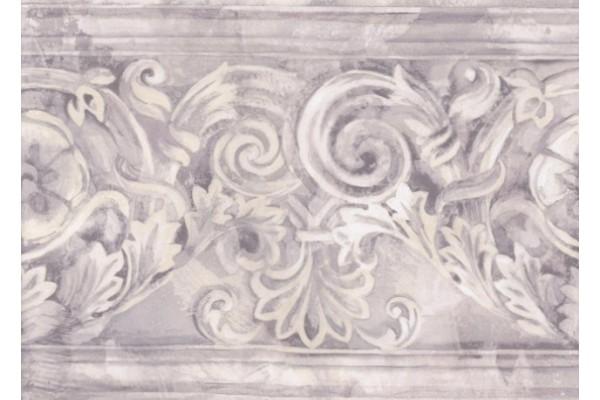 Home Grey White Stone Column Molding Wallpaper Border 600x400
