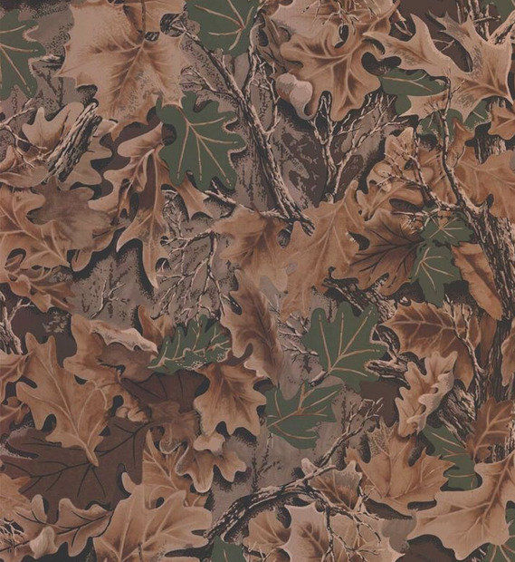 WALLPAPER BY THE YARD Real Look Forest Leaf Camouflage Mancave Boys 569x620
