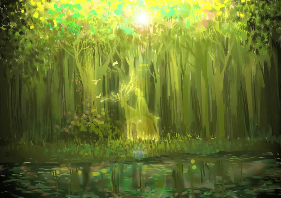 Anime Forest Spirit Scenery Wallpaper This is one pretty original 905x640