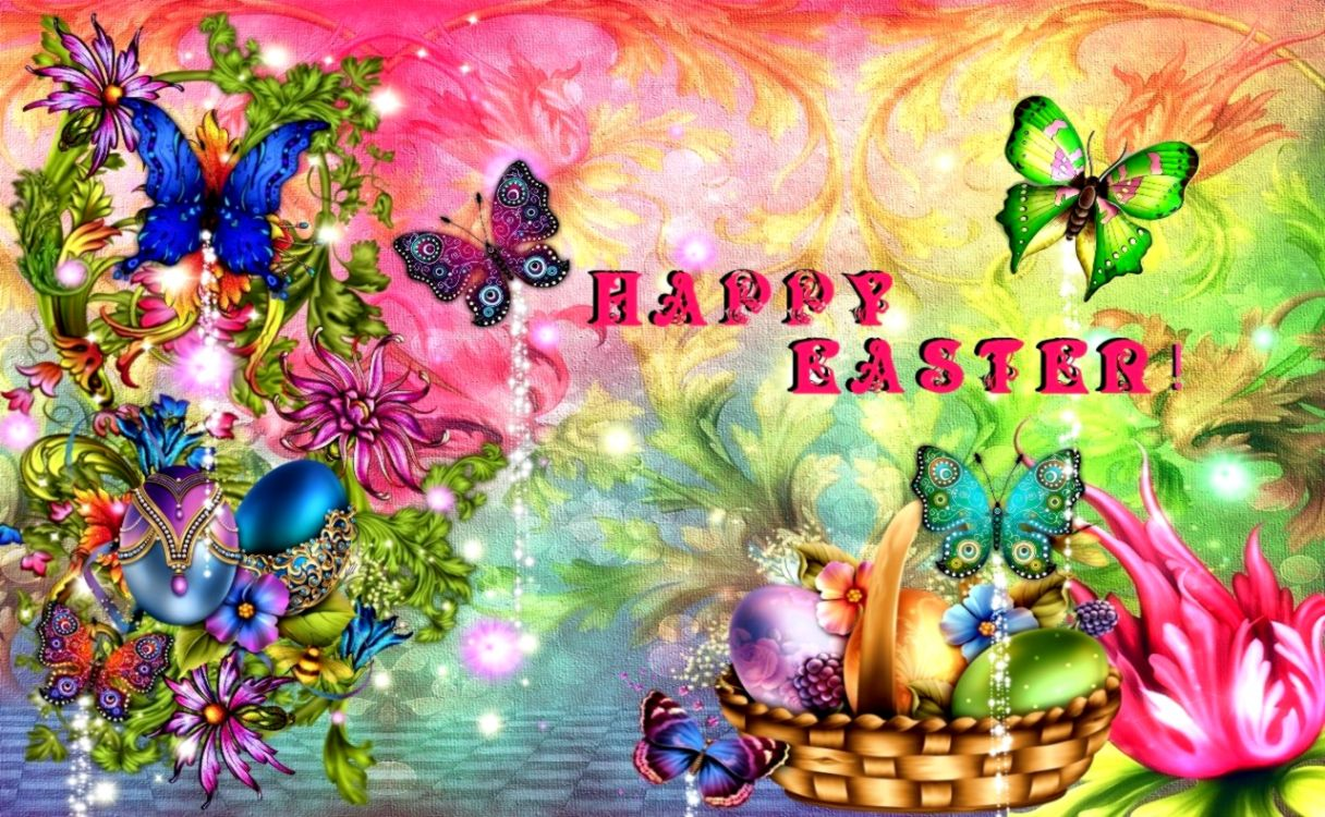 Colorfull Happy Easter Hd Wallpaper Like Wallpapers 1216x750