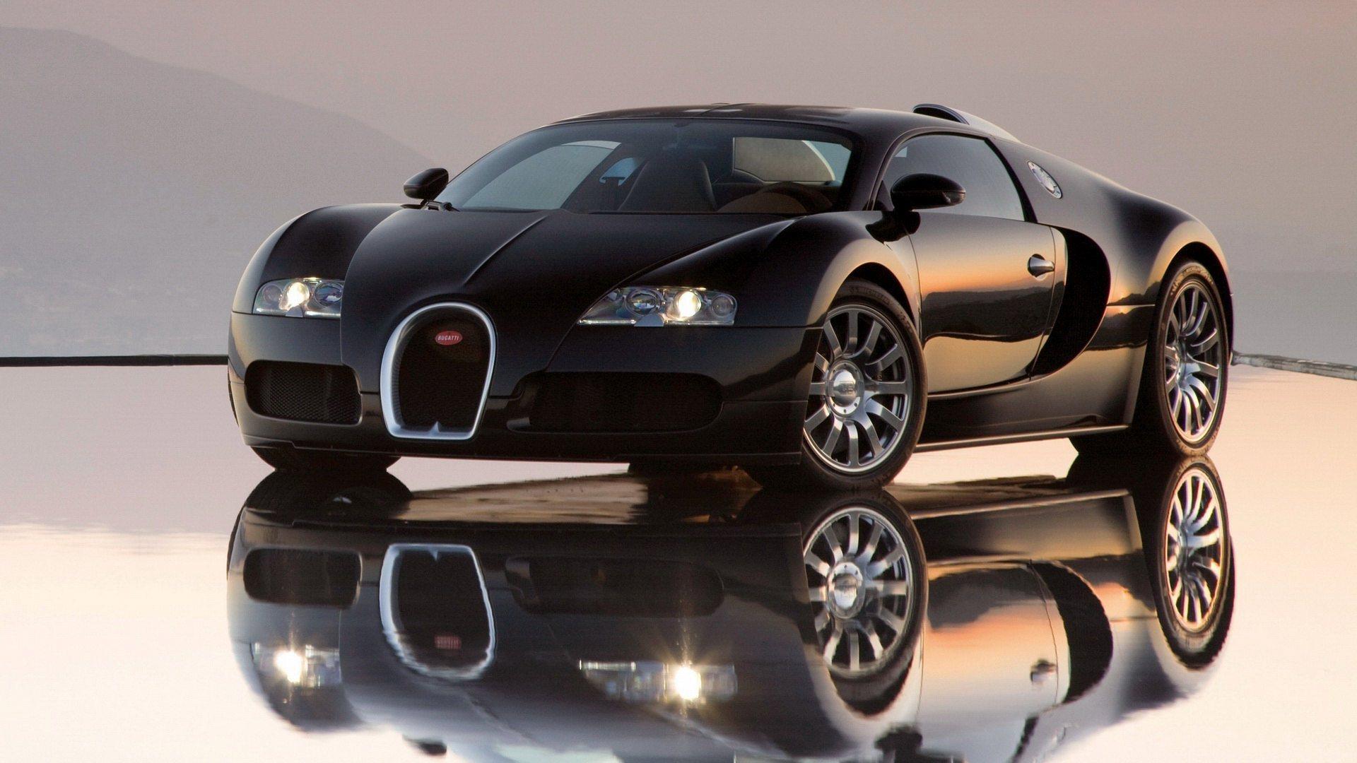 Black Bugatti Veyron For Desktop 1920x1080
