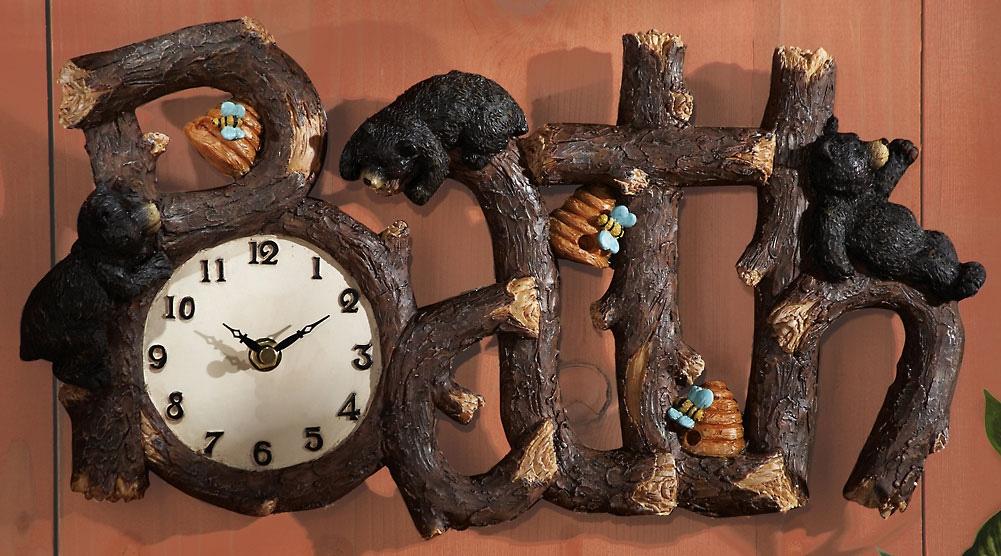 Bear Clock Wall Decor