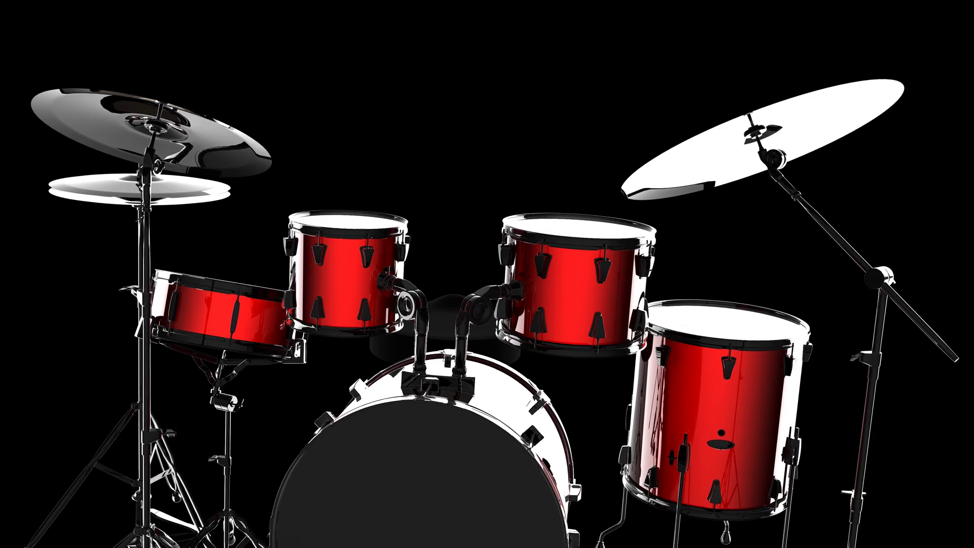 drum set on white background Motion Background   Storyblocks Video 1920x1080