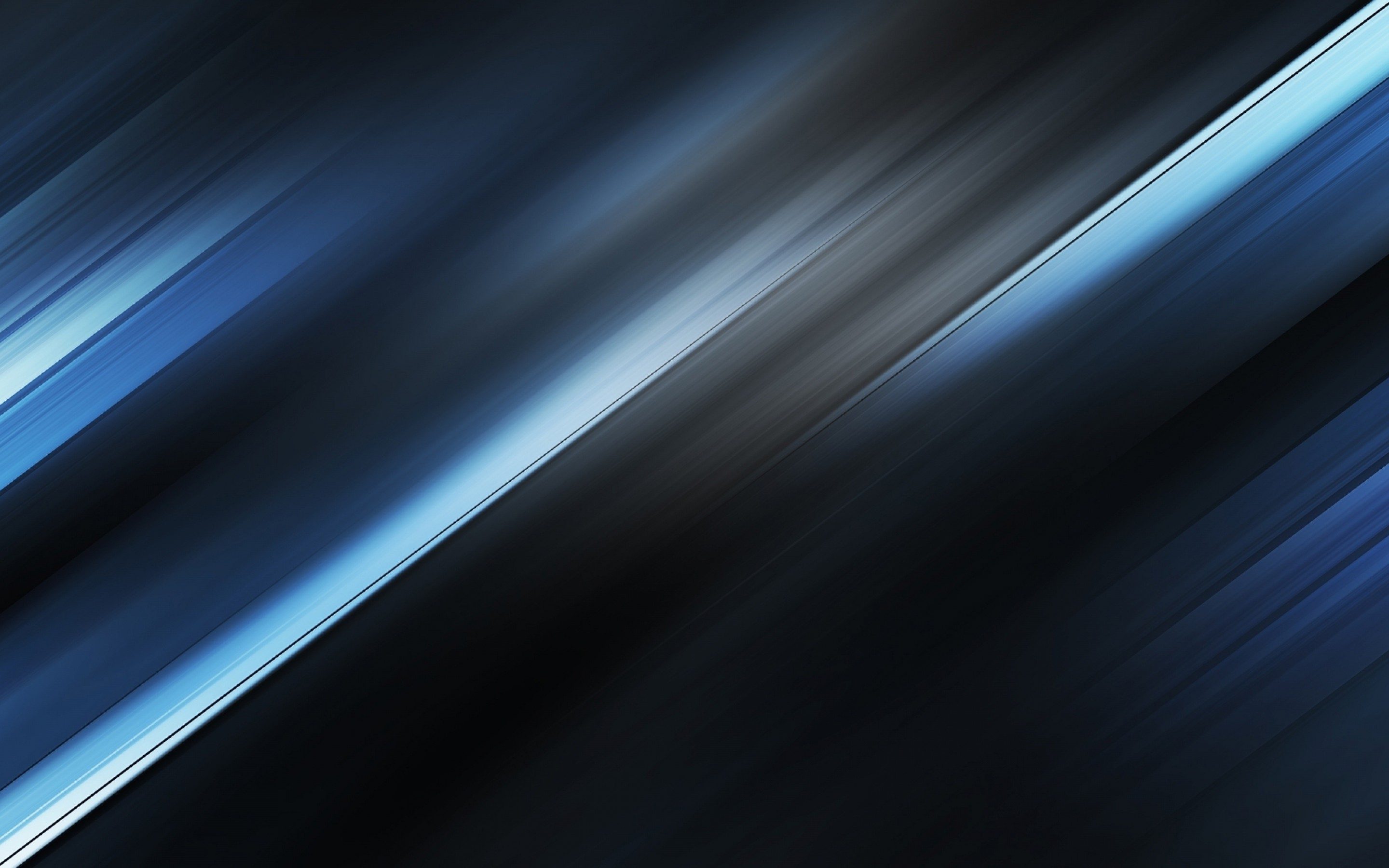 Abstract Blue Metallic Blurred Breeze Minimalism Wallpaper 2880x1800