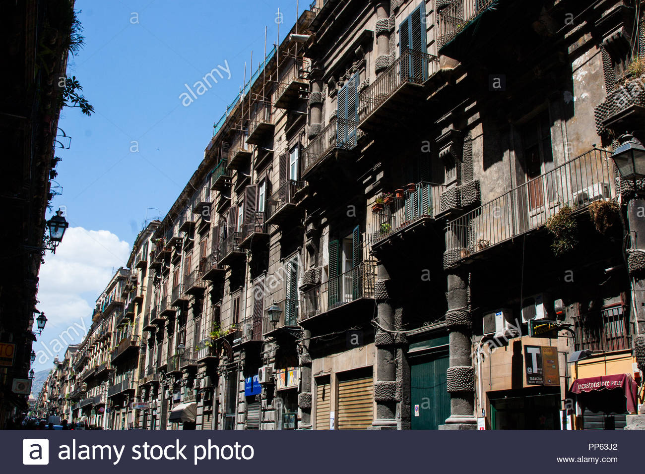 Wallpaper background of Palermo old residential building street 1300x956