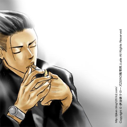 crows zero Genji Smoking by ijiken 500x500