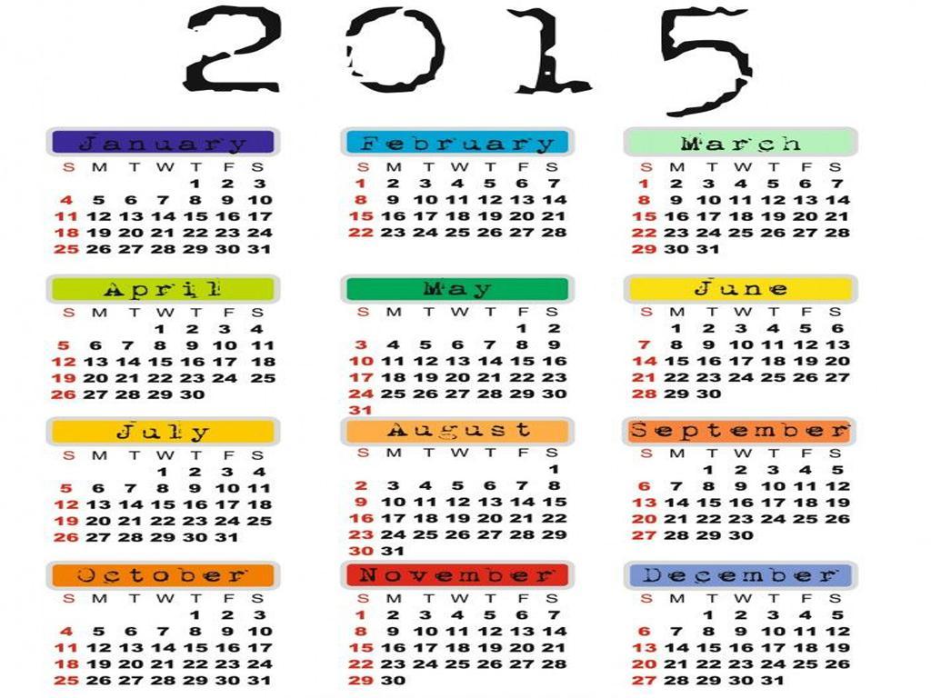 2015 Wallpaper Calendar New Calendar Template Site 1024x768