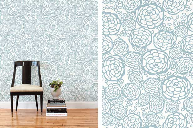 removable wallpaper tiles from Hygge West are great for renters 620x410