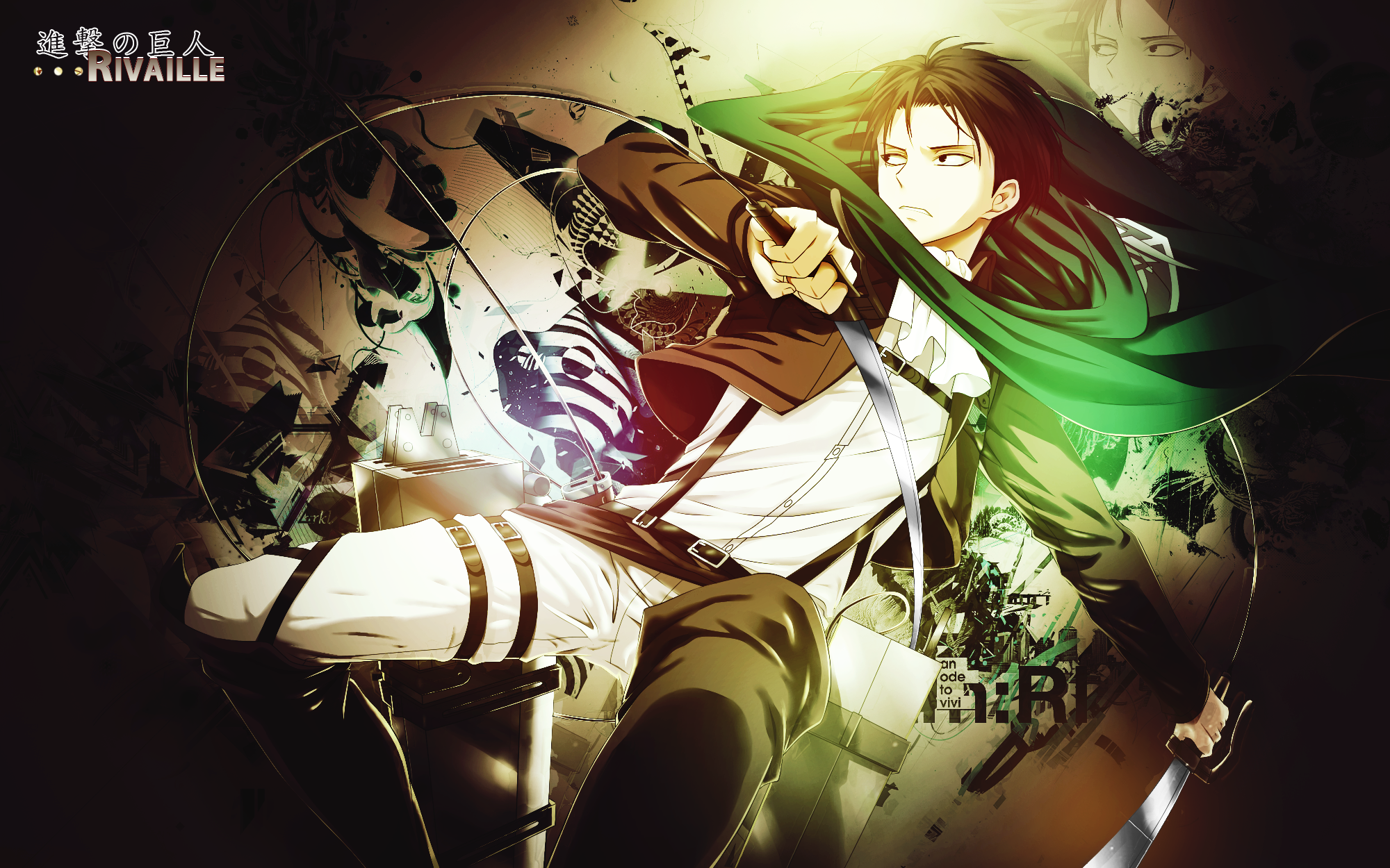 Wallpaper Shingeki No Kyojin RivailleLevi by Nagamii Chan on 2000x1250