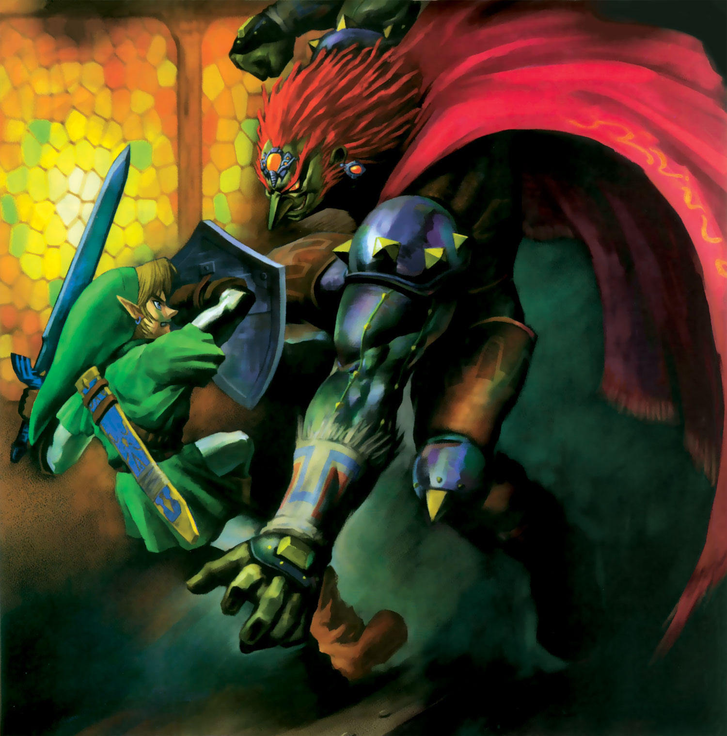 Link Zelda Wallpaper 1500x1517 Link Zelda Fight Ganondorf Shield 1500x1517