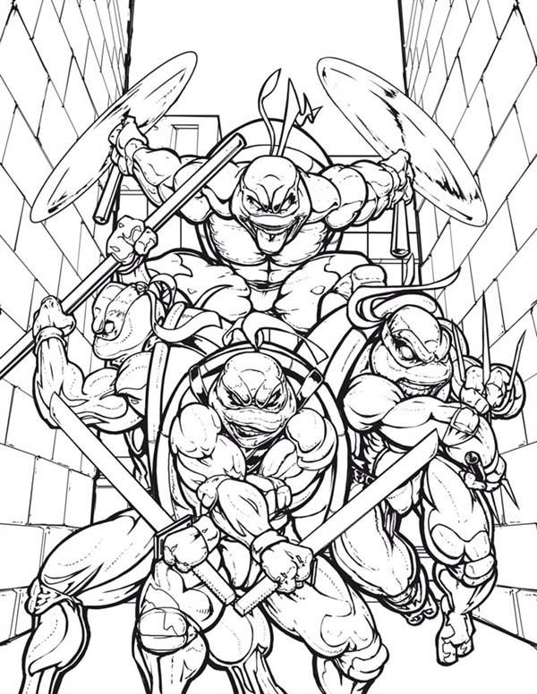 Super realistic wallpaper Teenage Mutant Ninja Turtles for Coloring 600x776