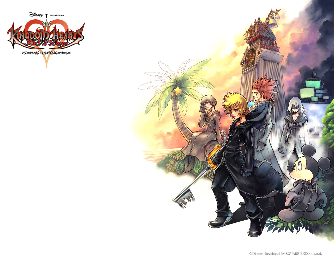 Fond ecran wallpaper Kingdom Hearts 358 2 Days   JeuxVideofr 1280x1024