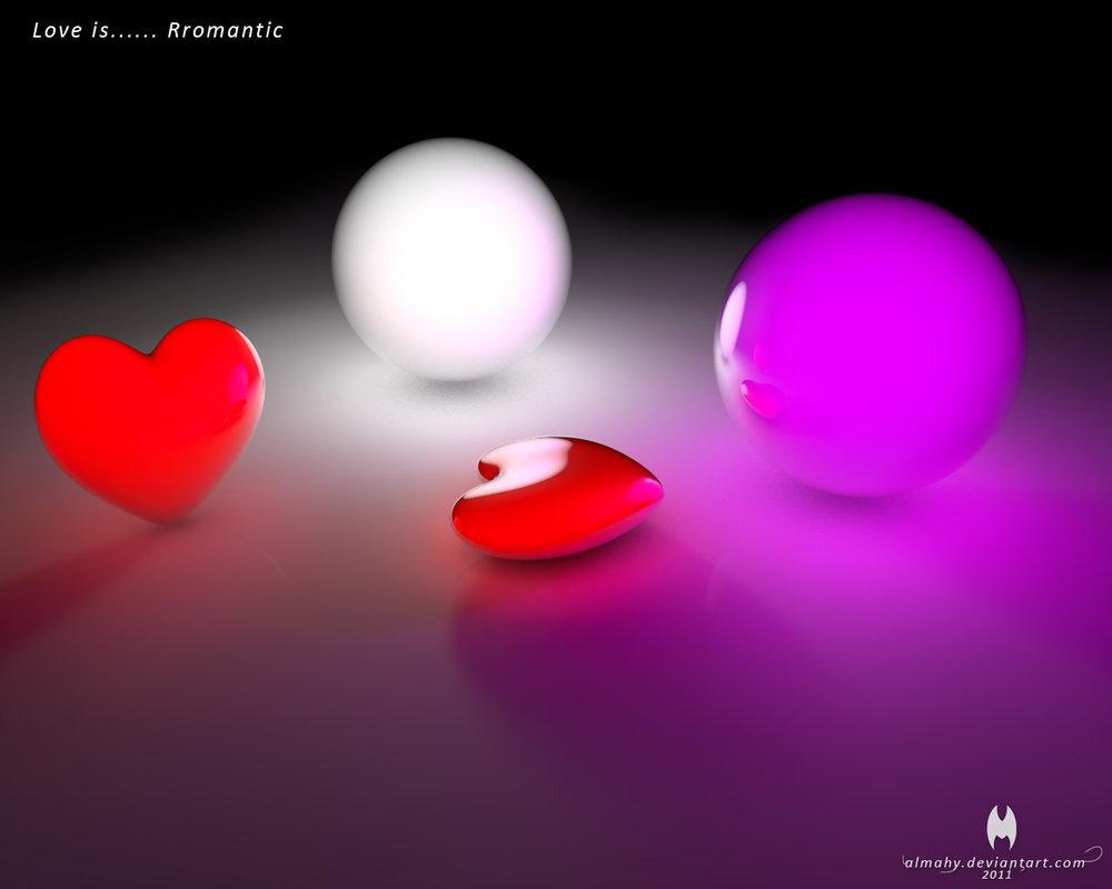 Free Download Love Is Romantic Wallpaper 3d Papel De Parede 3d