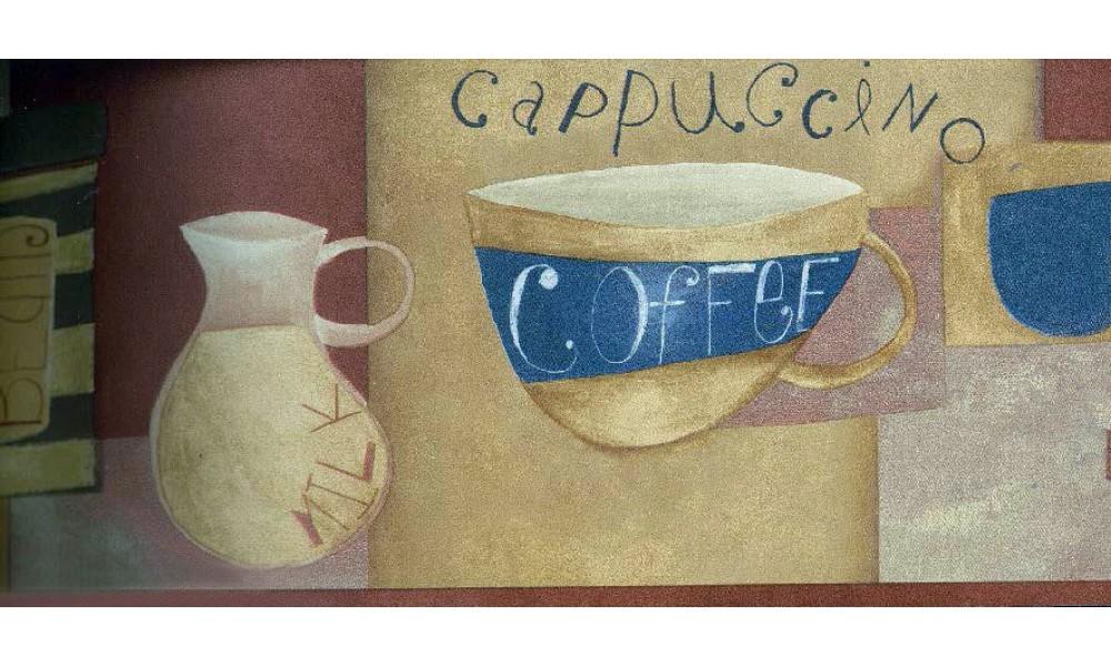 Home Brown White Milk Coffee Wallpaper Border 1000x600