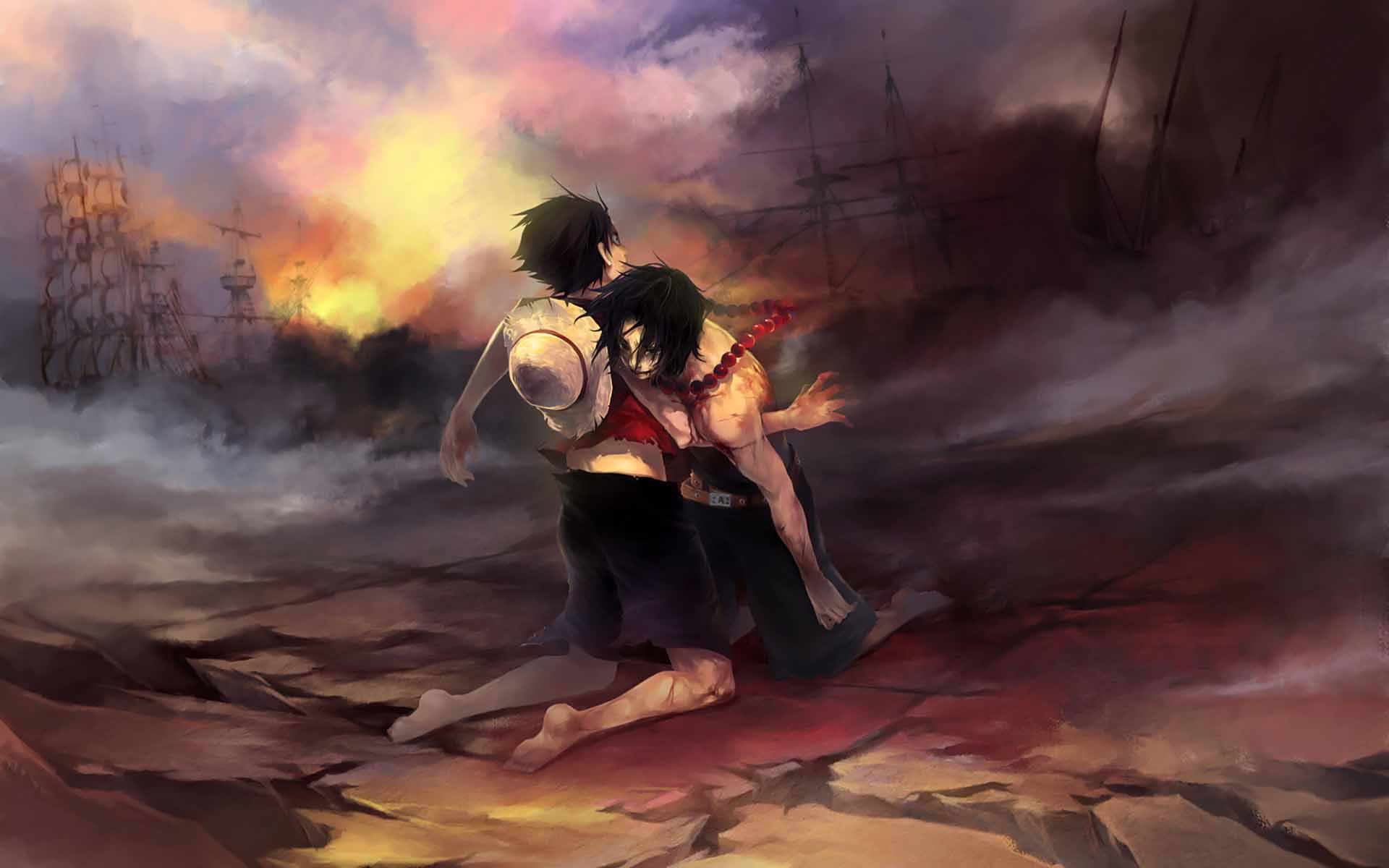 One Piece JP Anime Luffy And Ace HD Wallpaper   Stylish HD Wallpapers 1920x1200