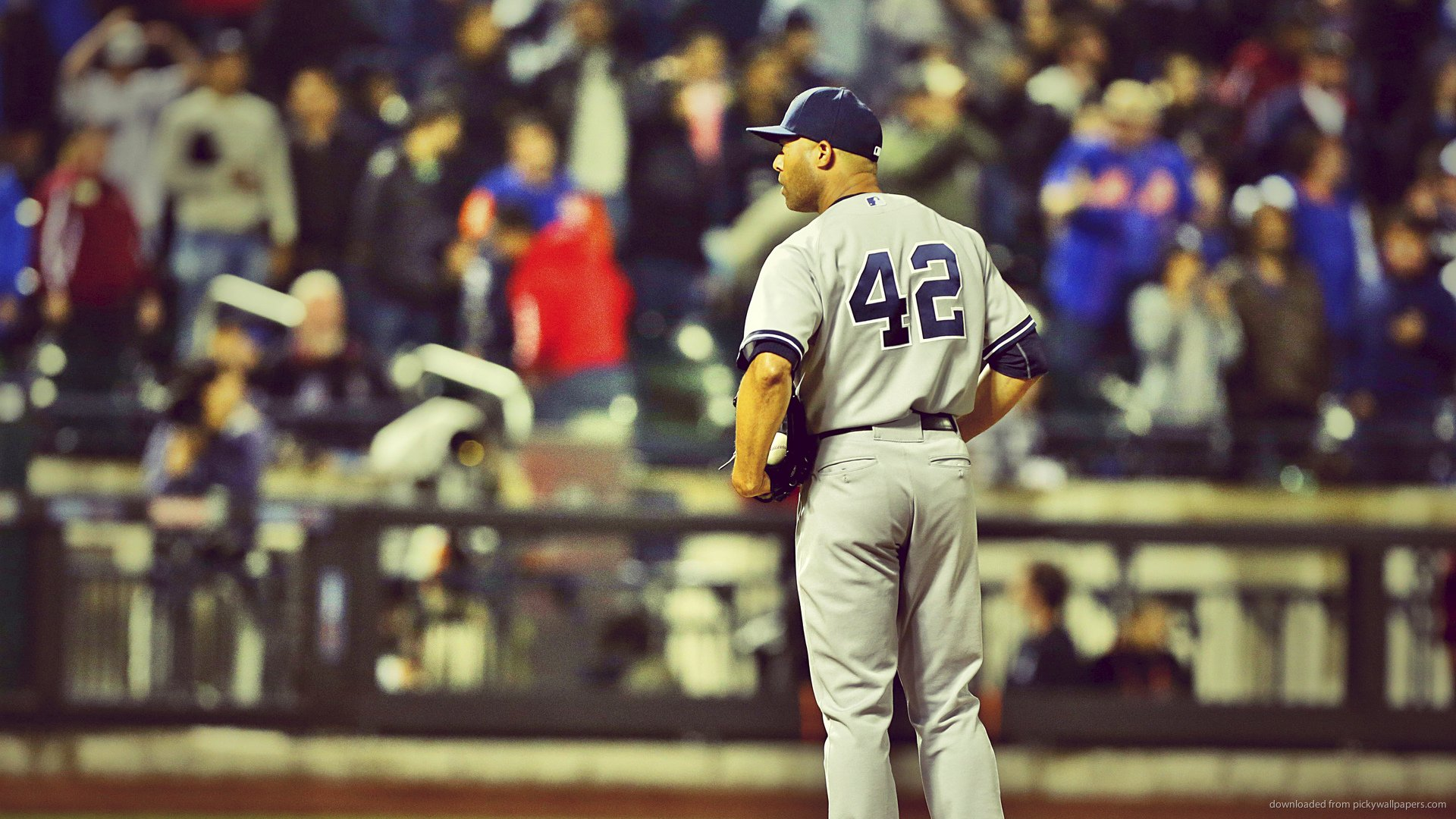 Download 1920x1080 Mariano Rivera 42 On Position Wallpaper