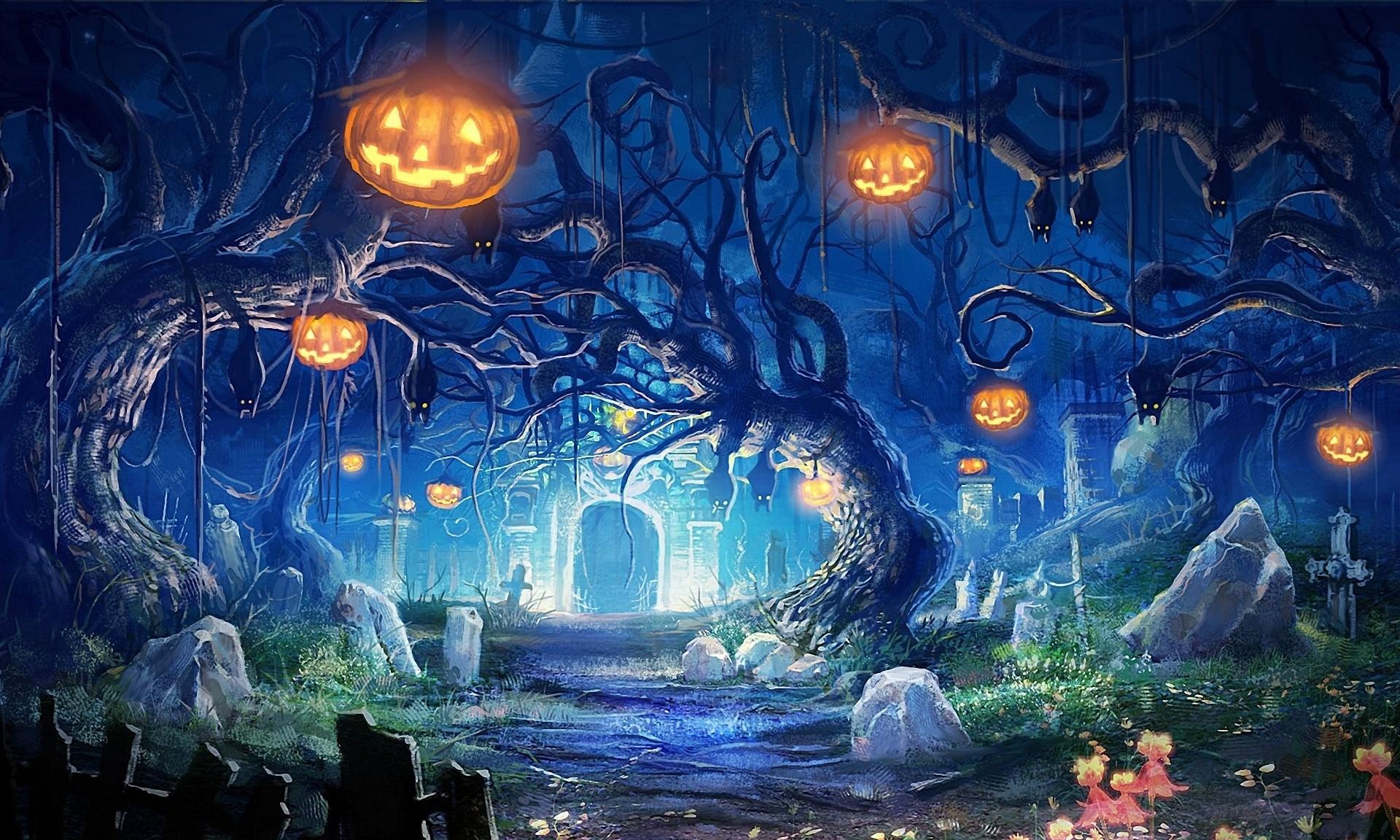 download Live Halloween Wallpaper for Desktop 62 images 1920x1152