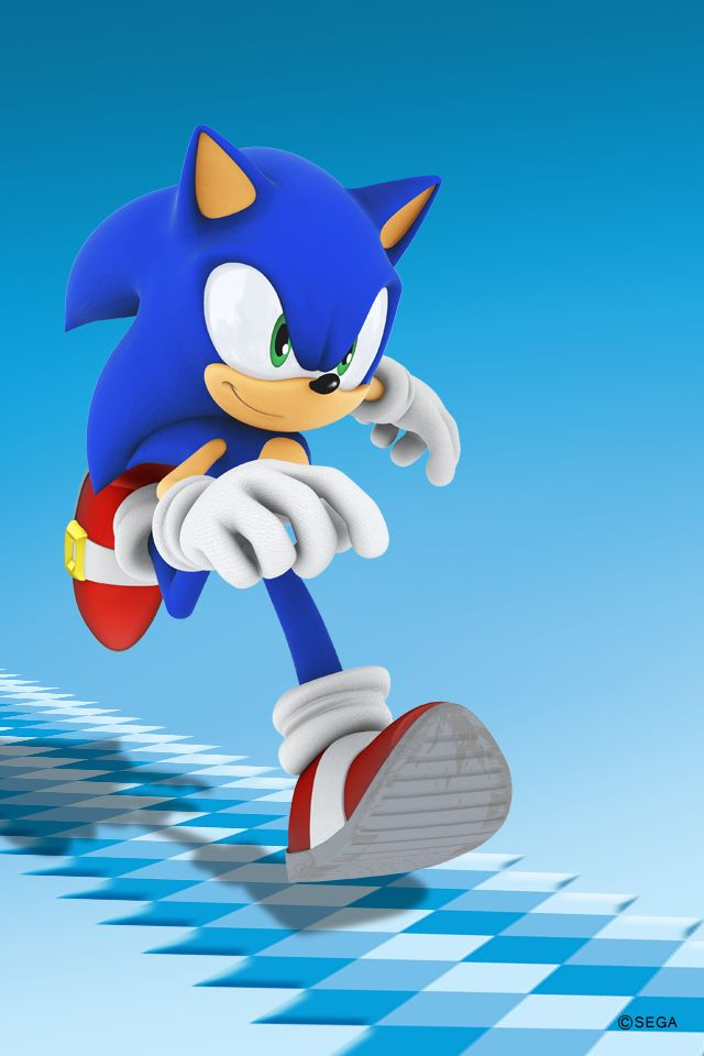 Iphone Wallpapers Iphone Backgrounds Sonic Wallpaper Sonic Running 640x960