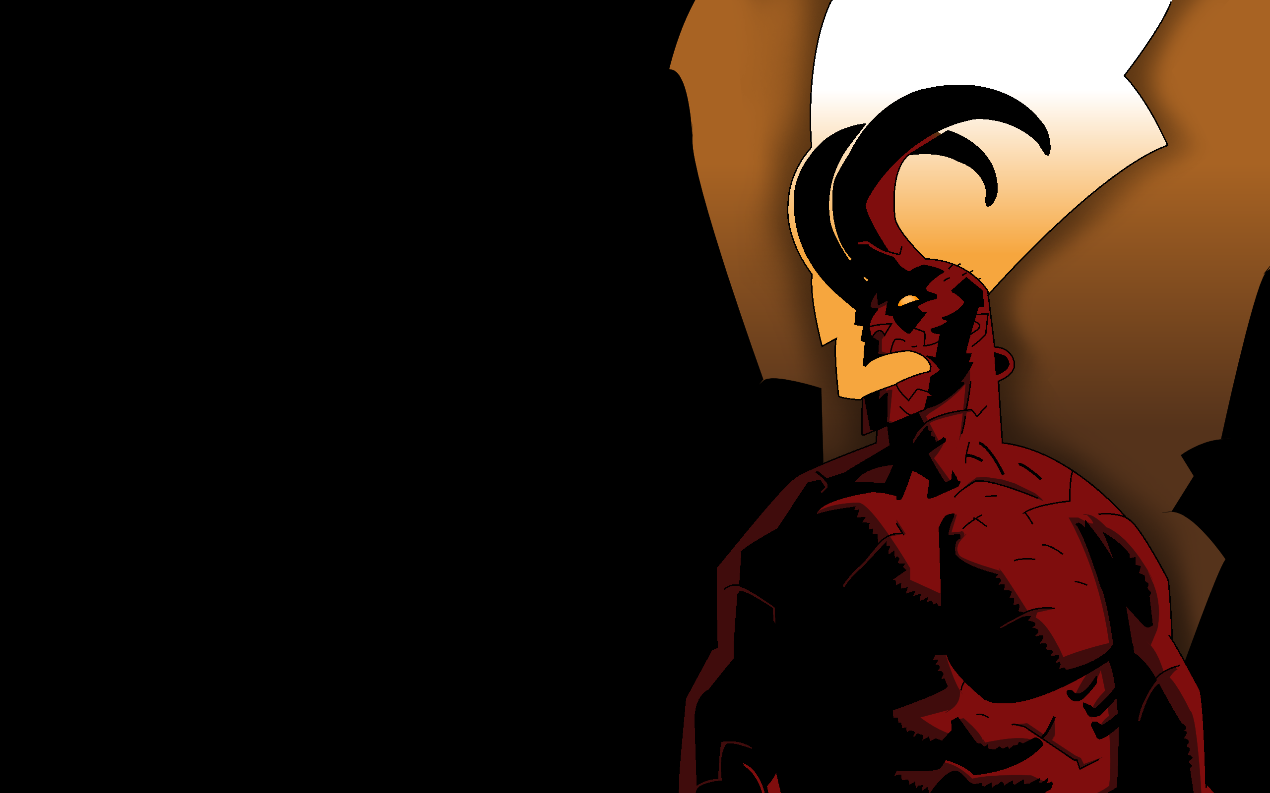 Wake the Devil Hellboy Wallpaper by CameronArt 2560x1600