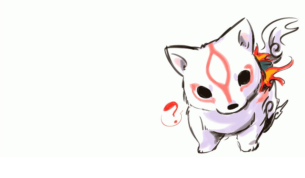 cute okami chibi amaterasu HD Wallpaper   Anime Manga 114605 1024x600