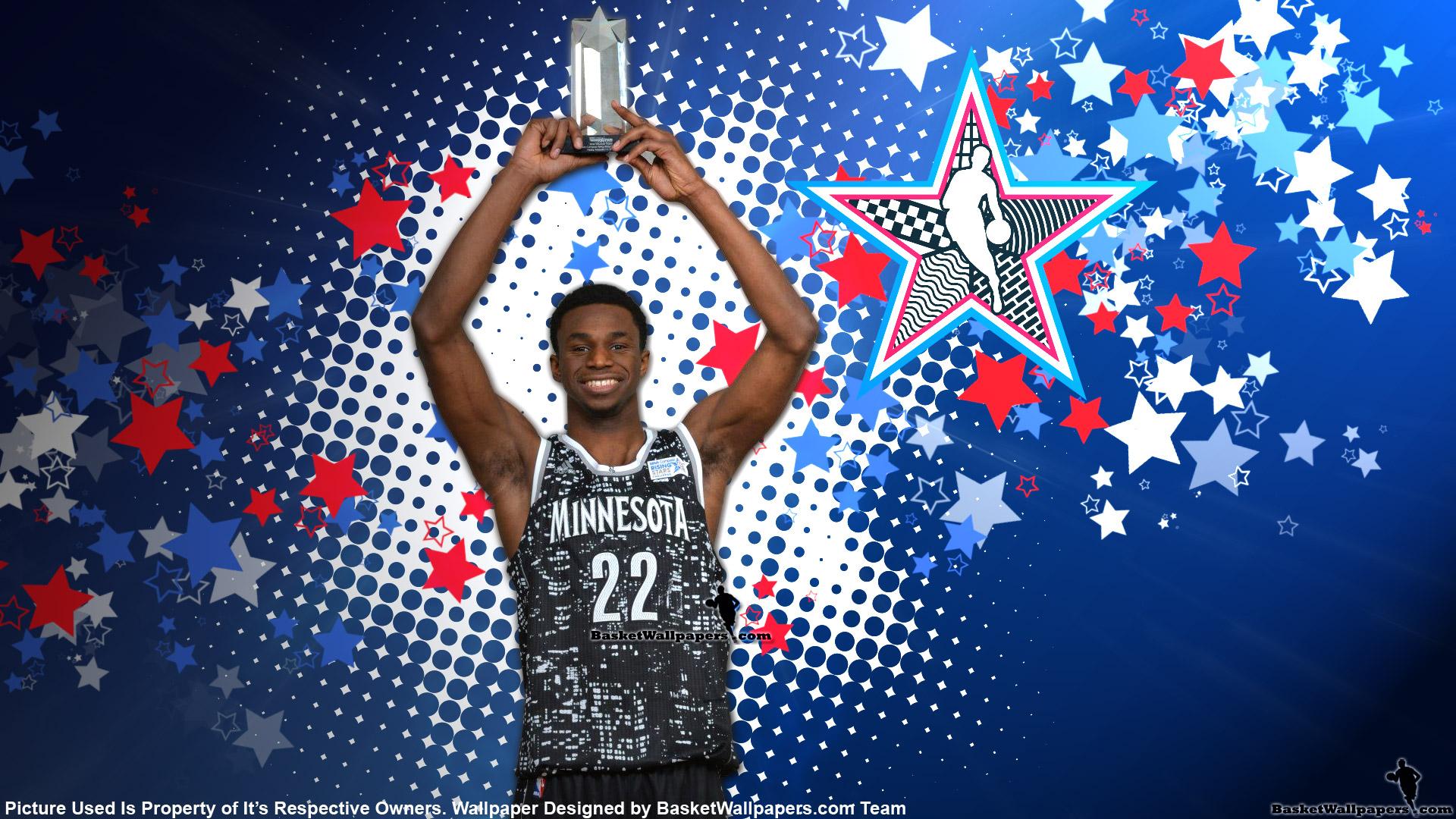 Andrew Wiggins 2015 NBA Rising Stars MVP Wallpaper Basketball 1920x1080