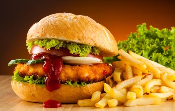 Wallpaper fast food hamburger french fries wallpapers food 596x380
