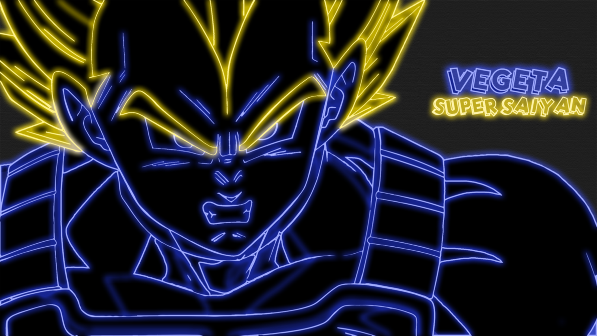 deviantartcomartVegeta Super Saiyan Neon Wallpaper 340810114 1191x670