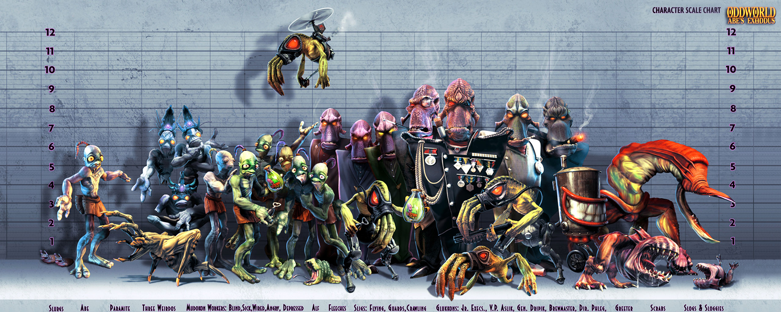 Games Wallpapers   The Oddworld Dual Screen wallpaper 2560x1024