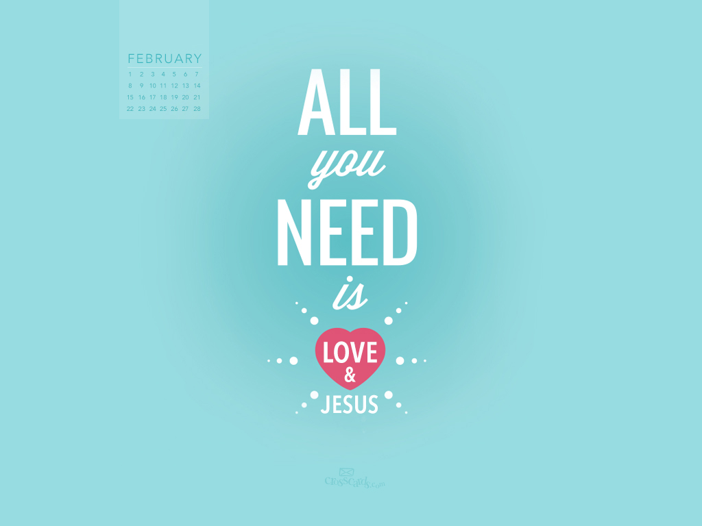 Love and Jesus Desktop Calendar  Monthly Calendars Wallpaper 1024x768