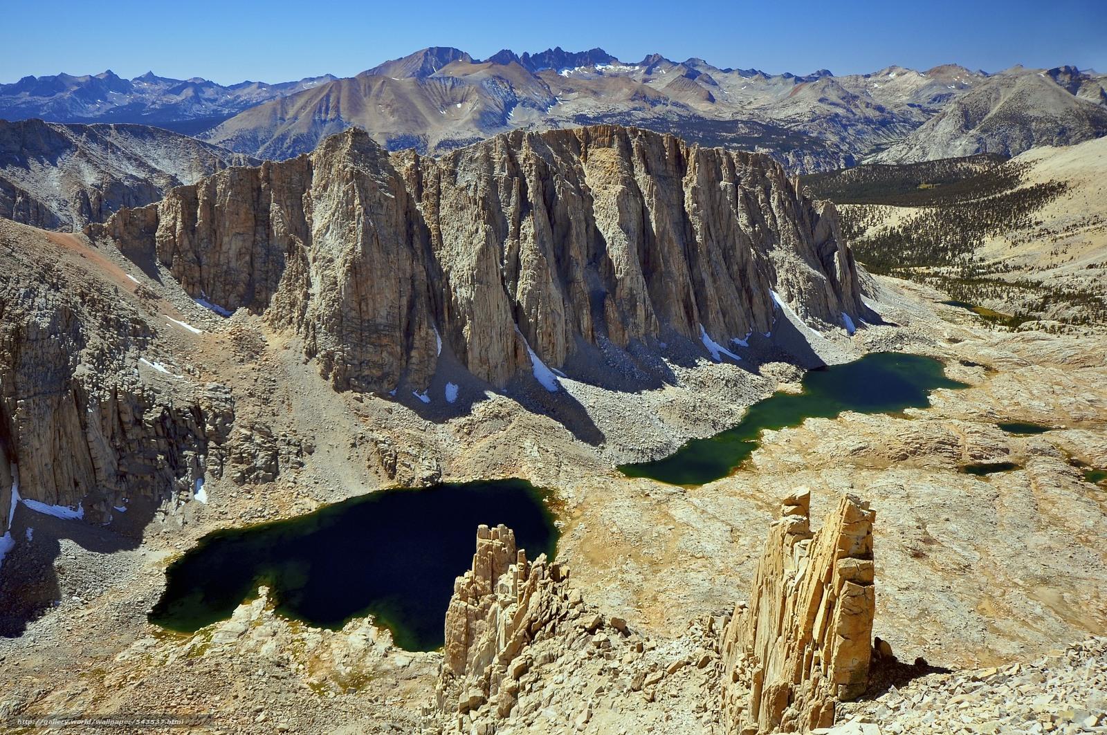 Download wallpaper Hitchcock Lake Sequoia National Park landscape 1600x1063