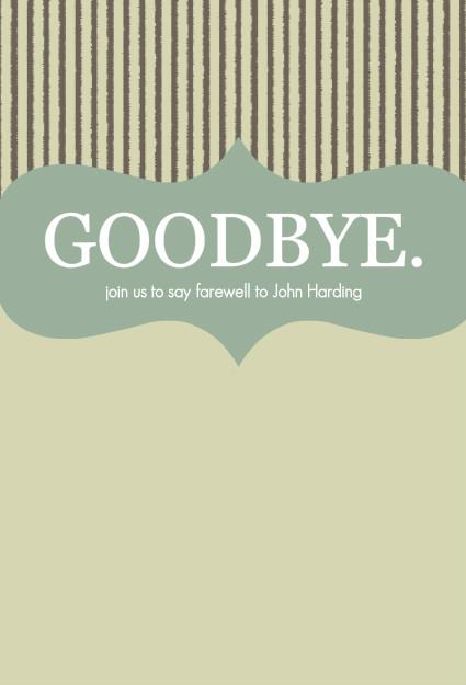 Goodbye Party Invitation – Goodbye Party Invitations