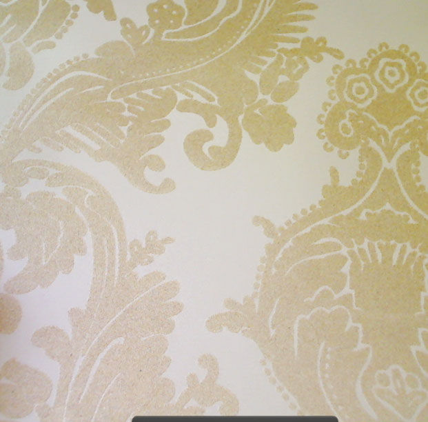 wallcoverings wallpapers walls flock velvet wallpaper beige flock and 621x612