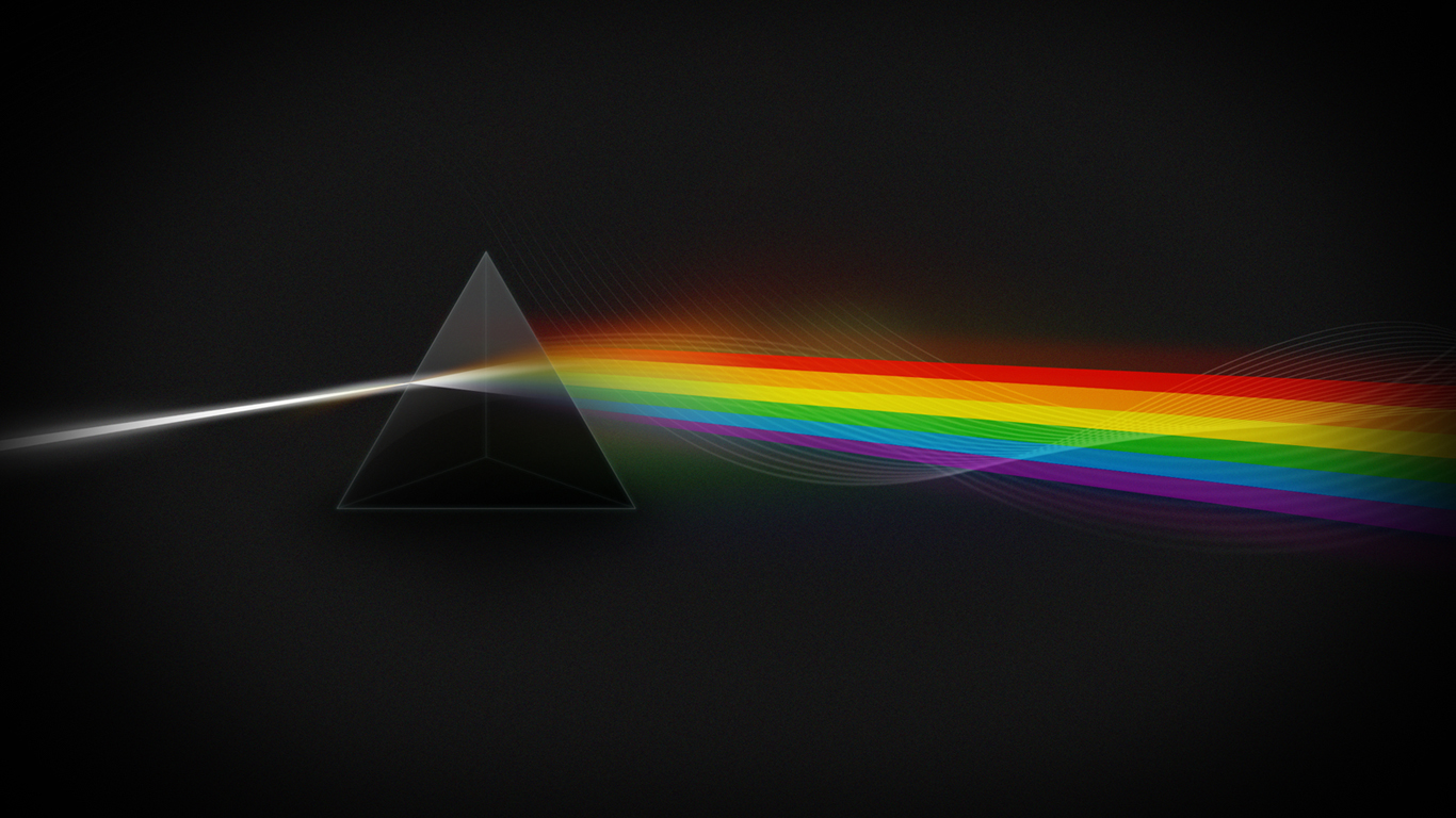 pink floyd the dark side of the moon light spectrum 1366768 1366x768