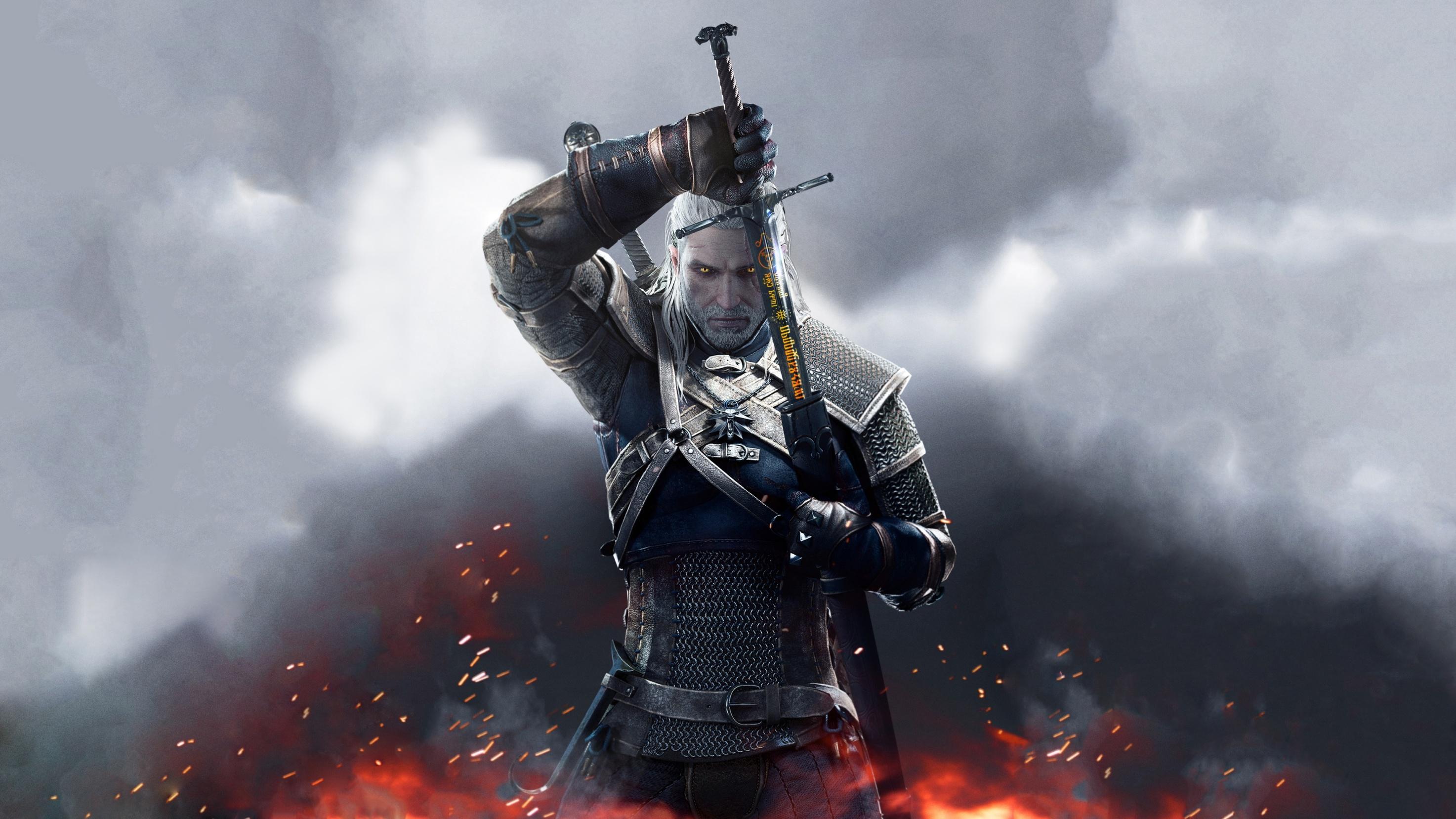Geralt   The Witcher 3 Wild Hunt Wallpaper 40250082 2947x1657