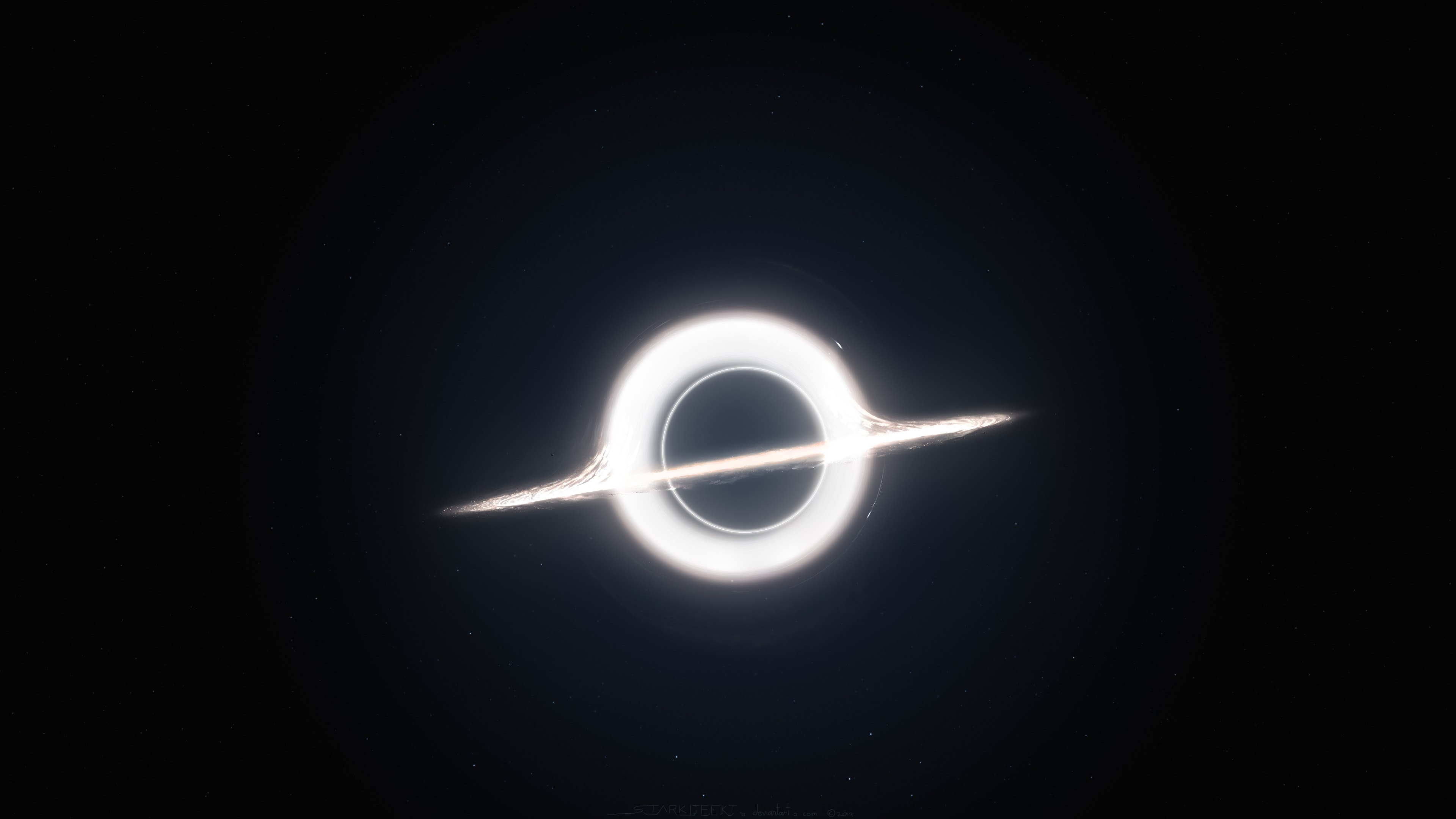 Gargantua inspired by Interstellar movie Wallpapers HD Wallpapers 3840x2160
