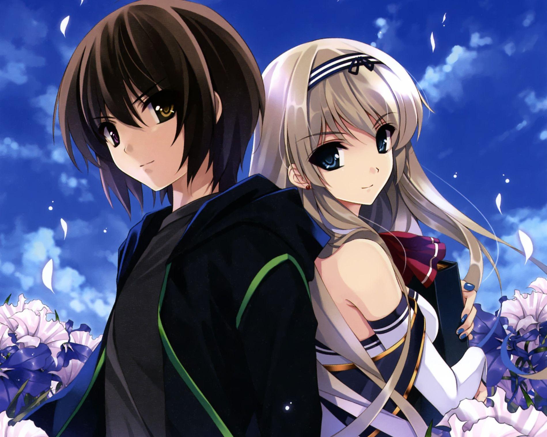 Cute Anime Couple Wallpaper - WallpaperSafari