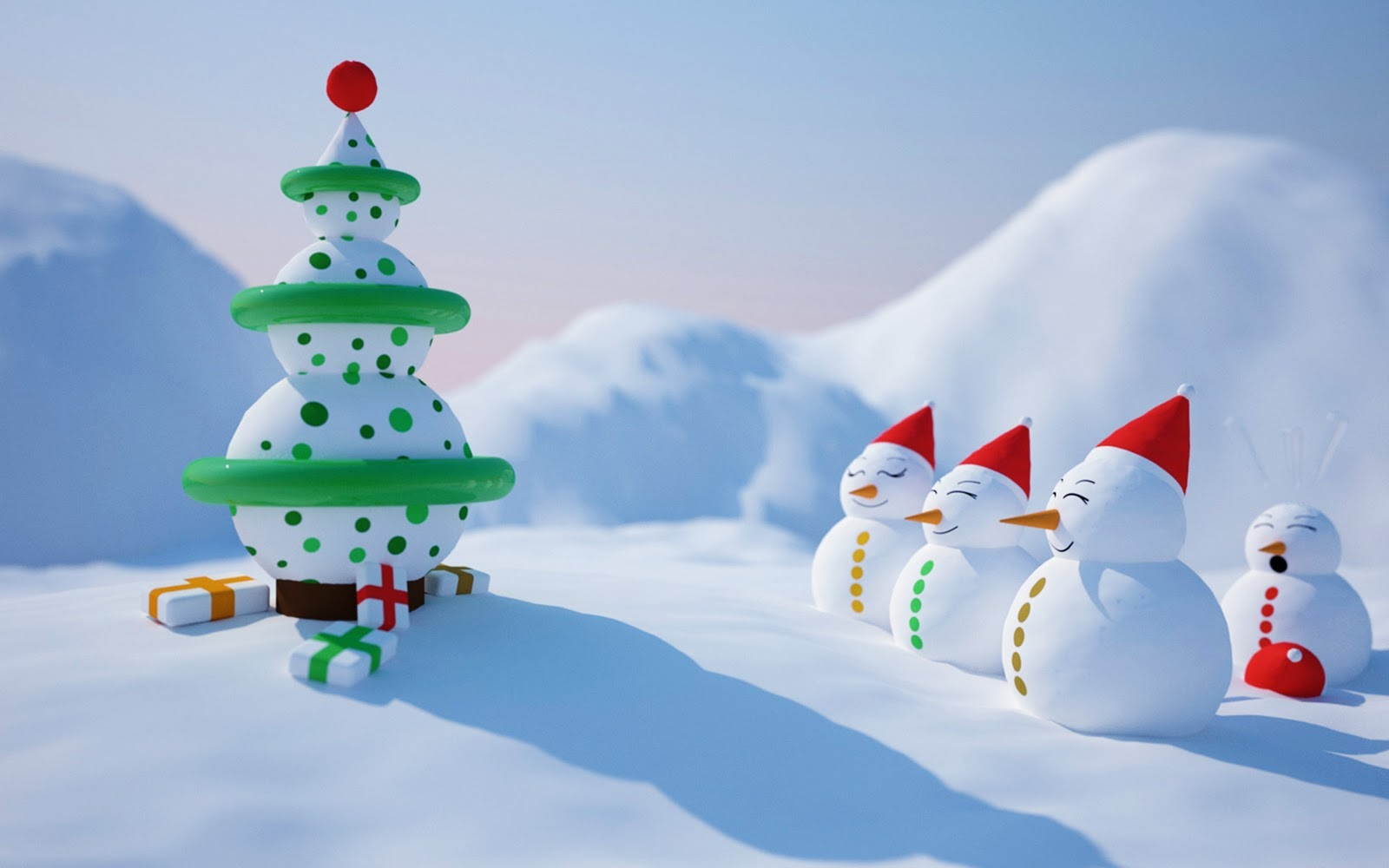 Animated Christmas Desktop Backgrounds 1600x1000
