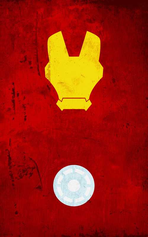 10 Great Minimalist Superhero Wallpapers for your iPhone 500x800