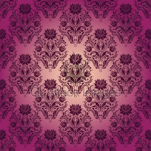 Damask Seamless Floral Pattern Royal Wallpaper 500x500