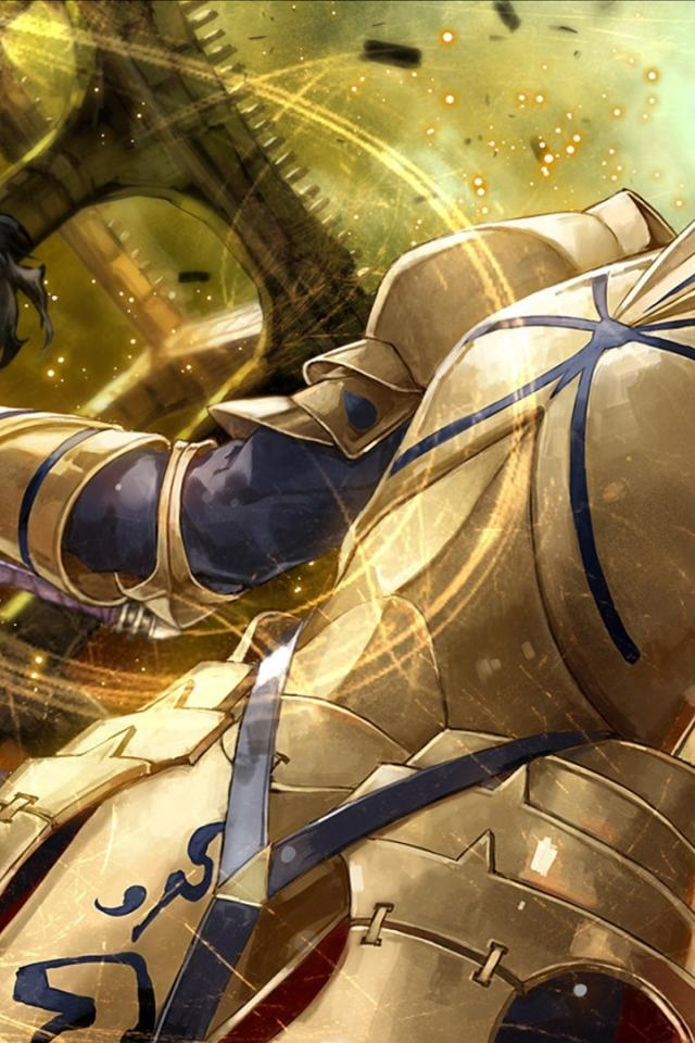Lancer gilgamesh fatezero fatezero fate series archer wallpaper 640x960