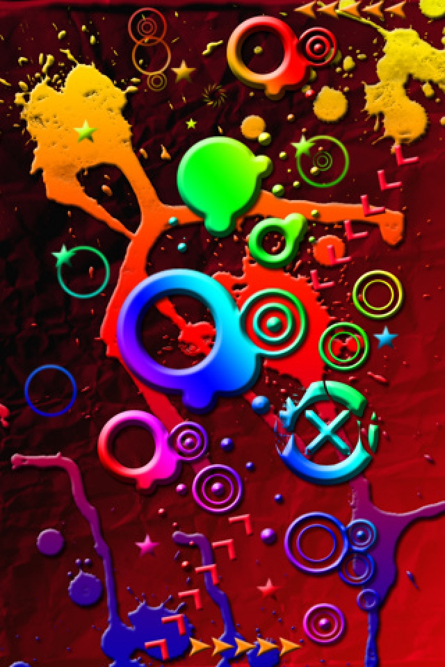 abstract wallpaper Crazy Stuff with size 640x960 pixels for iPhone 640x960
