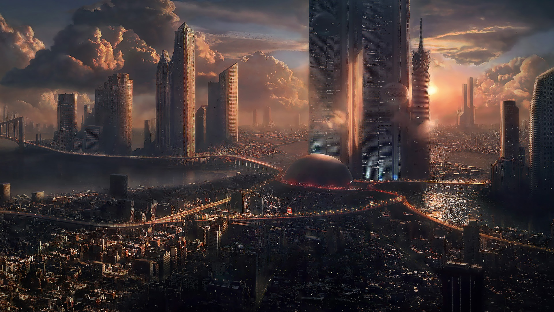 50 Futuristic City Wallpapers 1920x1080