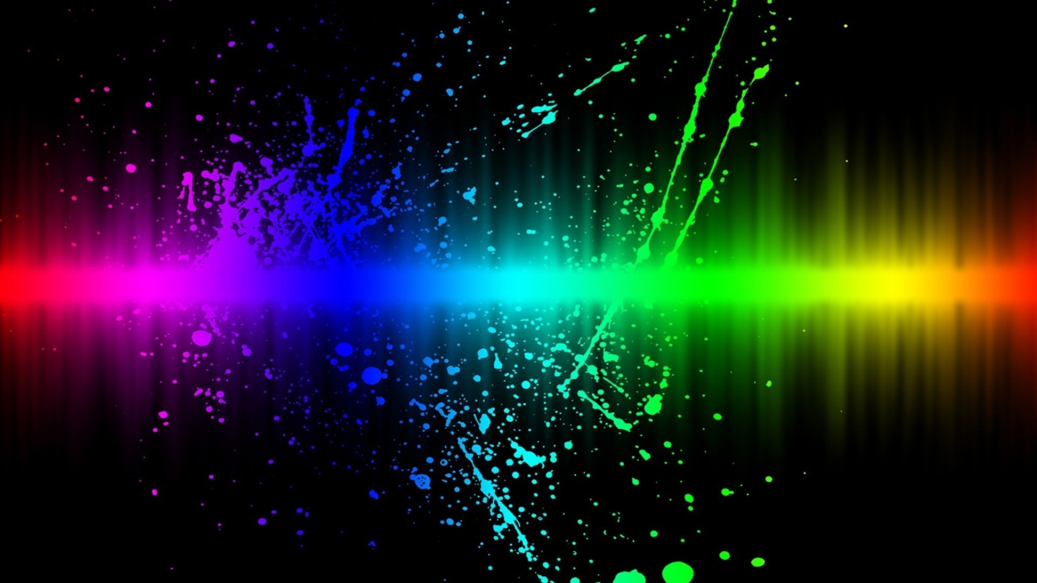 Wallpaper 2048x1152 Line Paint Rainbow Blots HD HD Background 2048x1152