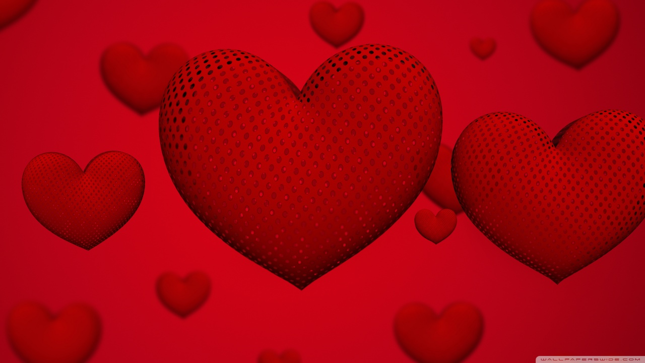 Valentines Day Hearts Ultra HD Desktop Background Wallpaper for 1280x720