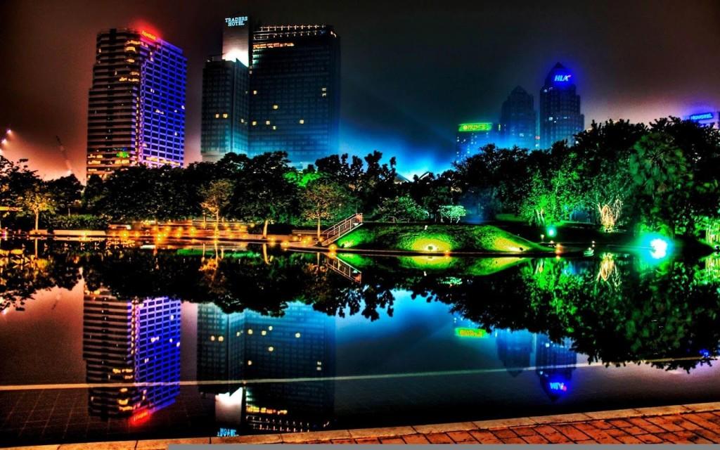 Light City Desktop Backgrounds HD Wallpaper 3D Abstract Wallpapers 1024x640