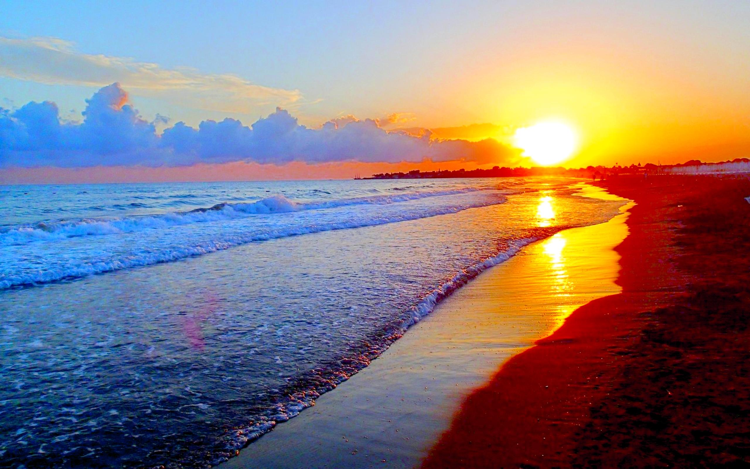 Pics Photos   Summer Sunset Wallpapers Autumn Beach 2560x1600